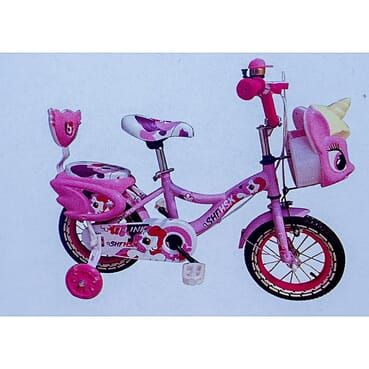 Rugged Colorful Baby Cycle / Kid Bike / Children Pink Bicycle (12 Inches 3-7yrs)