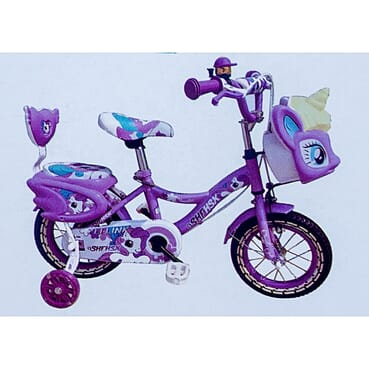 Rugged Baby Cycle / Kid Bike / Children Purple Bicycle (12 Inches 3-7yrs)