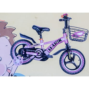 Rugged/Strong Alloy Rims Children Pink Bicycle (12 Inches 3-7yrs)