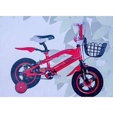 Rugged/Strong Alloy Rims/Spooks Children Red Color Bicycle (12 Inches 2-7yrs)