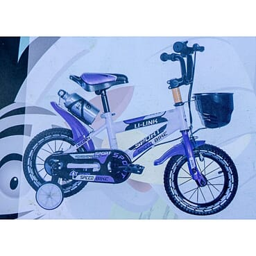 Rugged/Strong Sport Speed Children Purple Color Bicycle (12 Inches 2-7yrs)