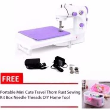Foot Pedal Desktop Sewing Machine + Table Extension Board + FREE Sewing Box