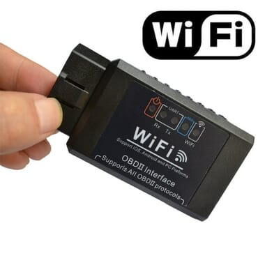 Elm327 WIFI OBD2 OBDII Interface Car Diagnostic Scanner - Black