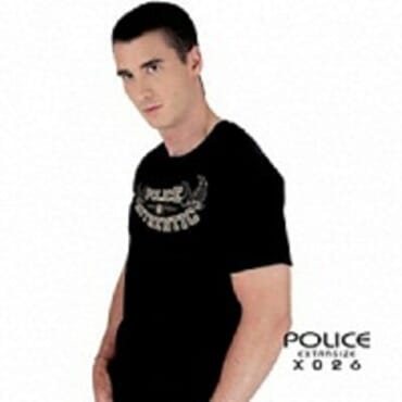 Police Extrasize X.026 T-Shirt-White/Black/Grey