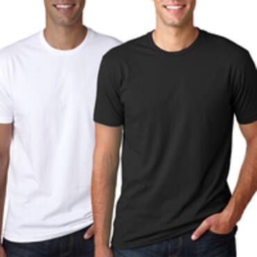 Men's Pack Of 2 BYC Fitted Colored Fashion T Shirt-White/Black