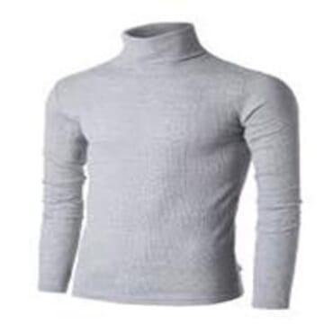 UZEM GREY TURTLE NECK BODYSIZE T-SHIRT Size M-Large
