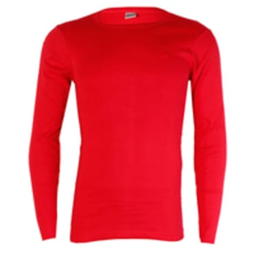 JUST IT LONGSLEEVE RED BODYSIZE T-SHIRT Size M -L O-NECK