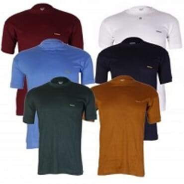 Men's 6-in-1 Lux C V T.Shirts Bundle - Multicolor. M-L