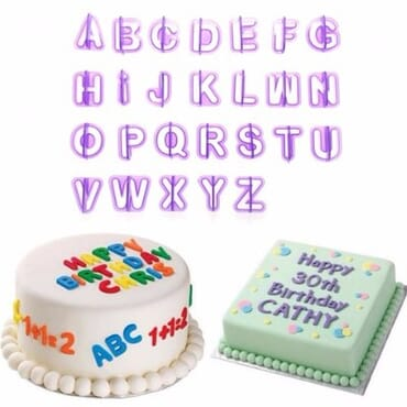 Number Letter Cake Mould Baking DIY Tools - 40 Pieces - Purple