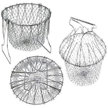 Foldable Multi-Purpose Steam Chef Basket Strainer- Silver