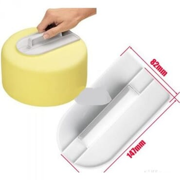 Cake Edge Smoother Tool.(white)