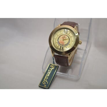 Promado B3750GDL 18K Gold Brown Leather Gold Face Watches