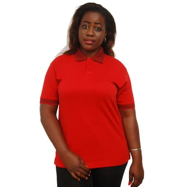 Sandhu Women's Premium Polo T-Shirts - Red