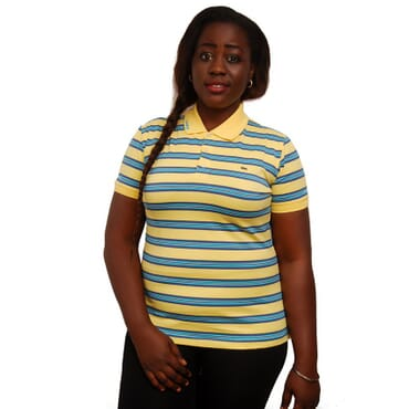 Lacoste Stretch Pique Ladies Polo - Yellow