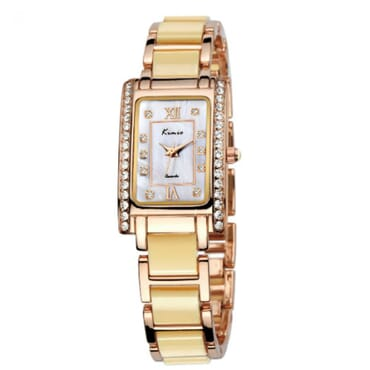 Kimio KW510 Rose Gold Cream Ladies Watches