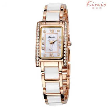 Kimio KW510 Rose Gold White Ladies Watches