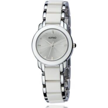Kimio K455 Ladies White & Silver White Face Quartz Watches