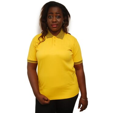Sandhu Women's Premium Polo T-Shirts - Yellow