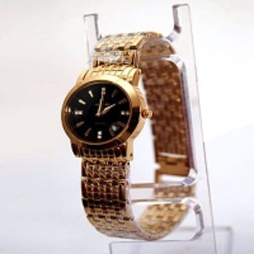 Loncar Ladies 1818L Gold Plated Watches Black Face