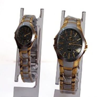 Loncar His & Her 1819 Gold Silver Plated Watches Black Face