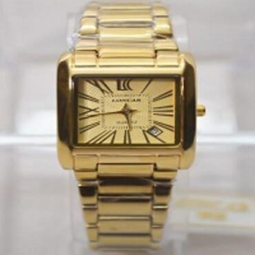 LONCAR MEN 1659 GOLD PLATED WATCH GOLD FACE