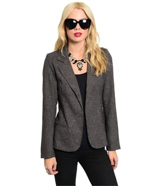 Amelia Grey Blazer- Medium