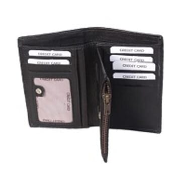 Men's Leather Wallet-Black