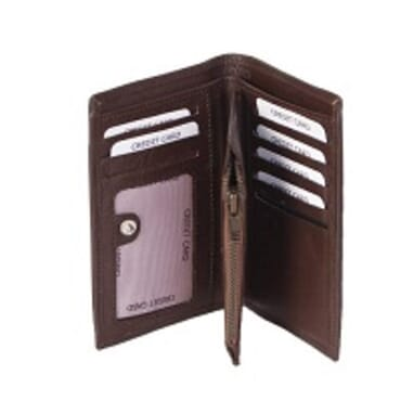 Men's Leather Wallet-Brown