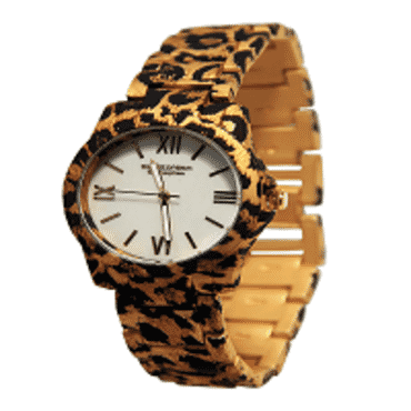 Soons Animal Print Flower Ladies Watch