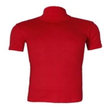 UZEM RED TURTLE NECK BODYSIZE SHORTSLEEVE T-SHIRT Size M-Large