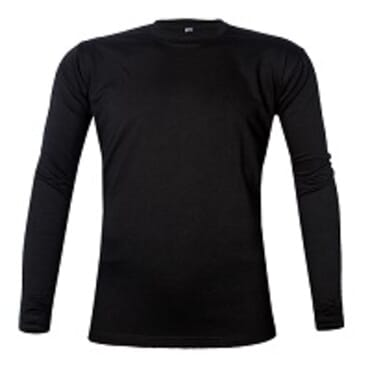 Royal Long sleeve T-shirt Black O-Neck