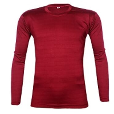 Royal Long sleeve T-shirt Maroon O-Neck