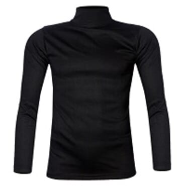 ROYAL BLACK TURTLE NECK T-SHIRT M-XL