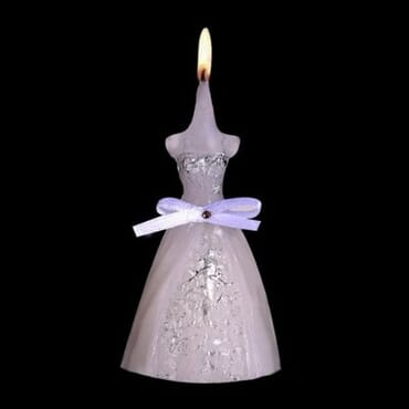 Wedding Favours Bridal Wedding Gown Dress Shaped Candle