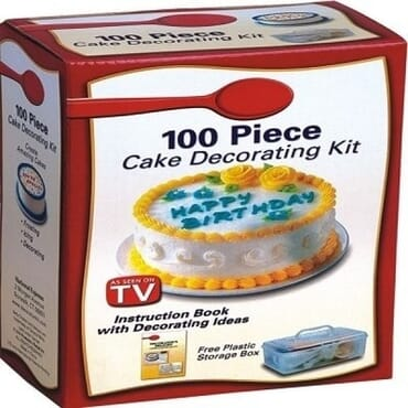 100 Piece Cake Baking Decorating Kit-White