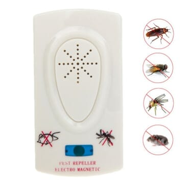 Electronic Ultrasonic Pest Magnetic Repeller -White