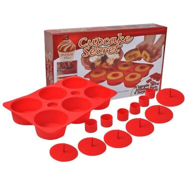 Cupcake Secret Maker Silicone Mould.(Red)
