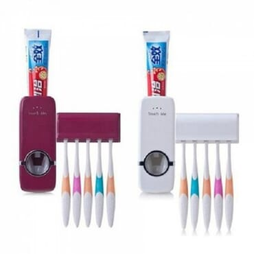 2-in-1 Automatic Toothpaste Dispenser & Brush Holder Bundle