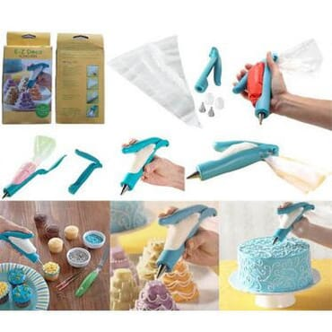 E-Z Deco Icing Pen Cookie Cake Pastry Decorating Pen (Blue)