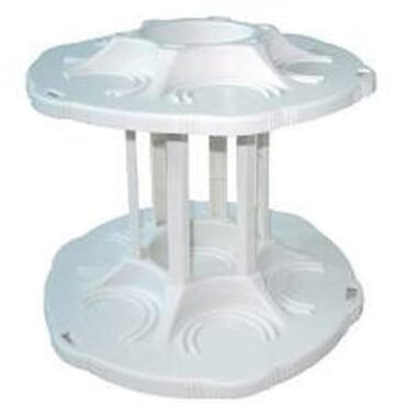 Can Tamer Two-Tier Detachable Carousel Can Organizer (White)