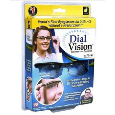 2pc Dial Vision Adjustable Eyeglasses For Distance & Reading