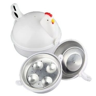 Chicken Shaped Plastic Microwave Egg Boiler Poacher