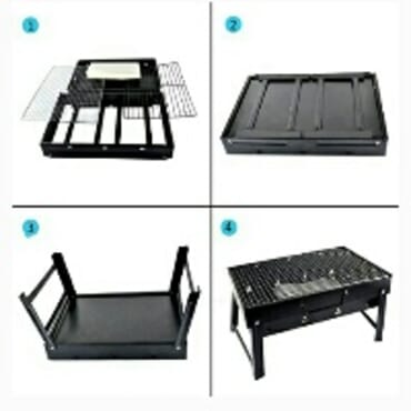 Barbeque portable bbq charcoal grill Stand Square shape