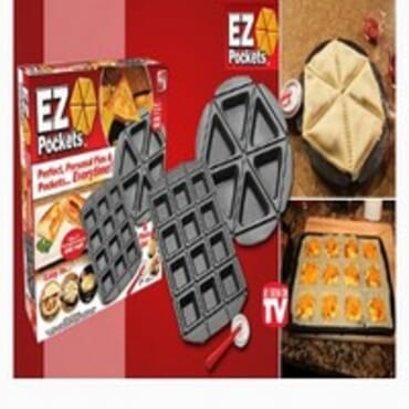 EZ Pockets Non-Stick Steel 4-Piece Baking Kit with Cutting Tool