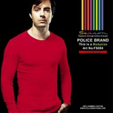 POLICE FS.004 FREESIZE PLAIN RED LONG SLEEVE T- SHIRT