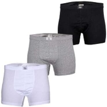 Police Black,White & Grey 3in1 Boxers Size M - XXL