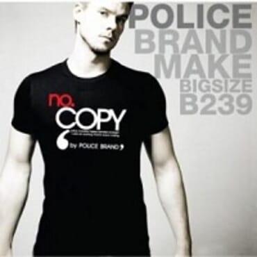 POLICE BIGSIZE PRINTED SHORT SLEEVE TEE SHIRT B239