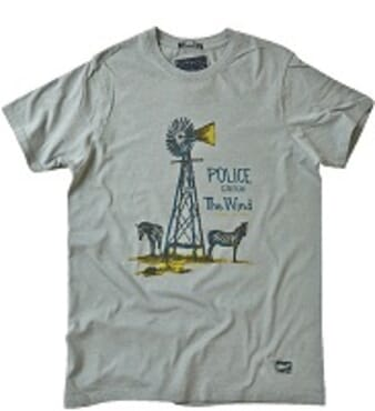 POLICE ZEBRA GREY PRINTED SHORT SLEEVE T- SHIRT T.98