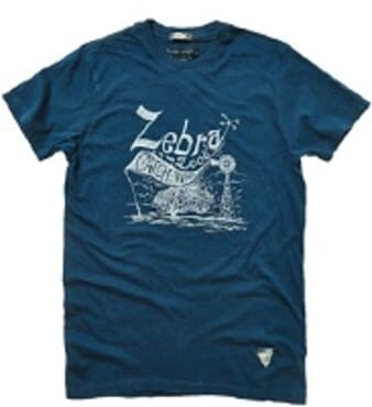 POLICE ZEBRA NAVY BLUE PRINTED SHORT SLEEVE T- SHIRT T.96