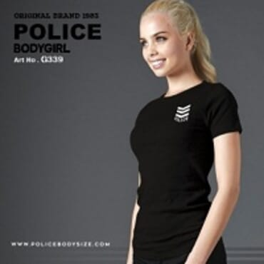 POLICE BODYGIRL BLACK PRINTED SHORT SLEEVE T-SHIRT G.339